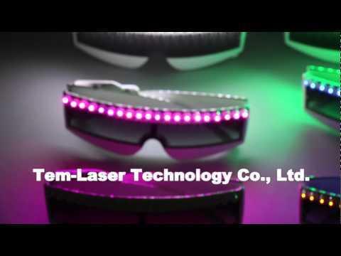 LED Glasses Luminous Light Up Party for Adult Glowing Dance Festival Eye Mask Halloween Costume Decor