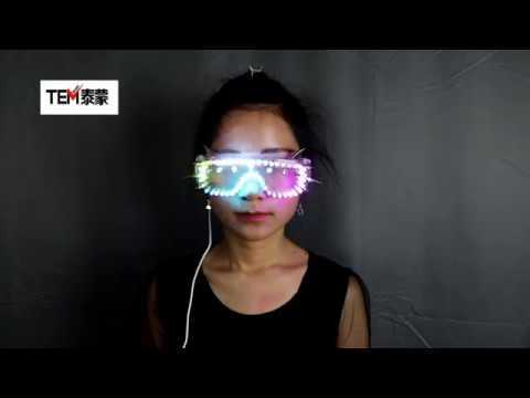 Full Color Led Luminous Glasses Can Change 7 Colors Flashing Halloween Party Light Up Eye wear