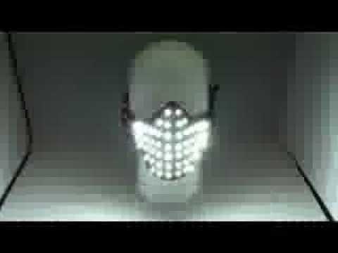 LED Glowing Light Masks Hero Face Guard PVC Masquerade Party Halloween Birthday LED Masks