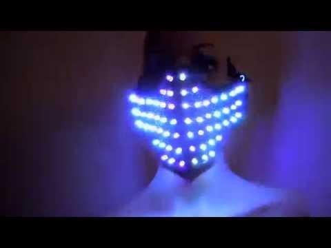 Colorful LED Masks Hero Face Guard PVC Masquerade Party Halloween Birthday LED Masks
