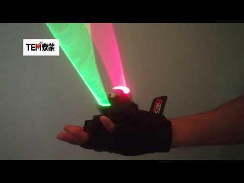 Laser Vortex Gloves Auto Green Rotating Vortex Laser Glove for Dance Party DJ Club Laser Show
