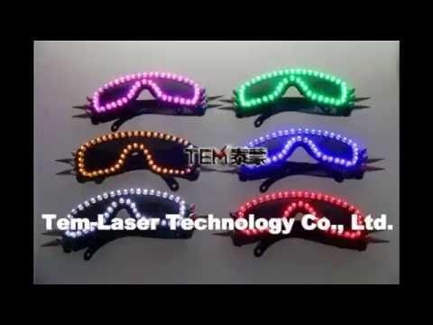 6 Color Burst Flashing LED Glow Glasses LED Glasses Rivet Punk Glasses Laser Glasses For Chirstmas Party