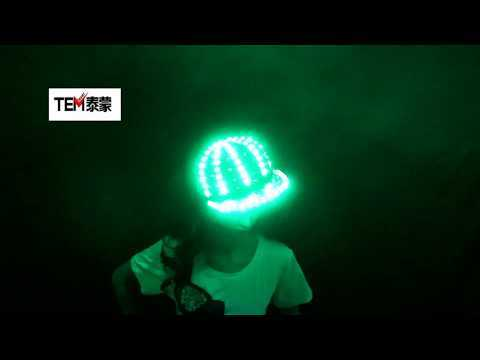 Woman Men LED Light Up Flashing Sequin Jazz Hat Cap Bow Tie Glow Rave Party Wedding Concert Bar Parade Adult Dance Show Wear