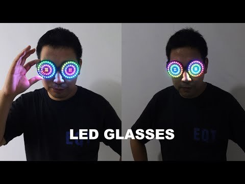 High Quality USB Recharge Led glasses Light up Goggles Rainbow Full Color Spectrum Rave Eye Costume night club Party