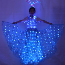 LED Luminous Wings Ballet Costume Fluorescent Butterfly Dance Cloak Dance Costume Belly Dance Cloak Prop