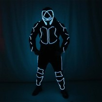 Red Laser Battle Suit LED Costumes Clothes Bar Nightclub DJ Lights Luminous Stage Dance Performance