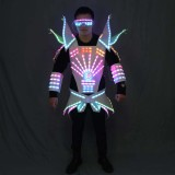 Full Color LED Robot Suit Technology Futuristic Stage Performance Catwalk Stage Dance Event Evening For DJ Bars Party Music Show