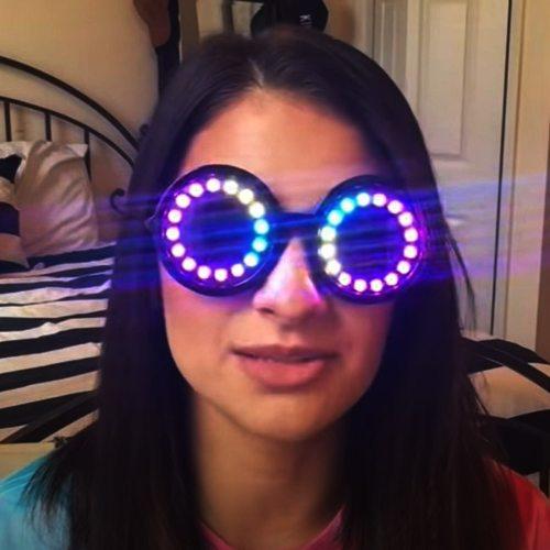 Pixel Pro LED Goggles Kaleidoscope Lenses Over 350 Modes Intense Lights  LED Glasses Microlights Infinite Colors  Rave Club