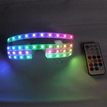 Handmade high-quality customization Full Color LED Glasses Pixel Laser Goggles Light Up Rave Costume Party Decor DJ SunGlasses