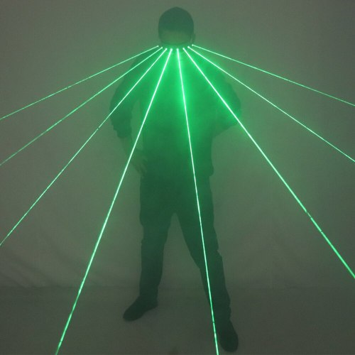 New Programmable Green Laser LED Glasses Dynamic Scanning Special Effects Dancing Stage Show DJ Club Party Laserman Show