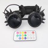 LED Glasses 350+ Epic Modes  Programmable Rechargeable Light Up EDM Festival Rave Party Sunglasses