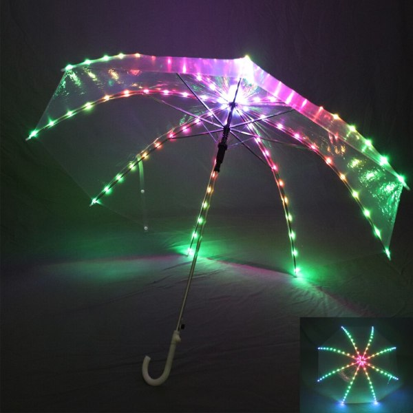 Full color Women Belly Dance LED Light Umbrella Stage Props As Favolook Gifts Costume Accessories Dance Led 300 modes