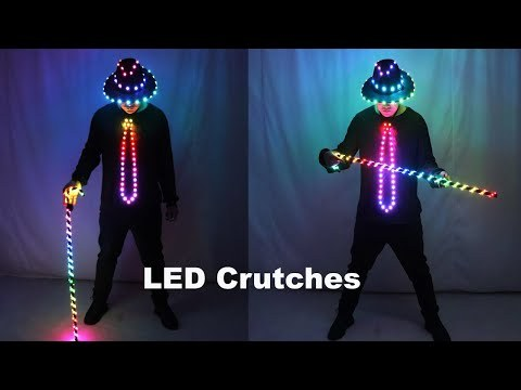 LED Costume Clothes Suit Light Up Belly Dancing Flashing White Canes Women Men Jazz Dance For Stage Performance Party As Gift