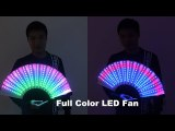 Full Color LED Fan Stage Performance Dancing Lights Fans Night Show Singer DJ Fluorescent Costumes Halloween Party Gifts