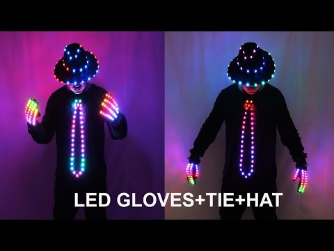 LED Blinking Sequin Jazz Hat Cap Bow Tie Wear Props Easter Wedding Birthday Party Ramadan Decoration