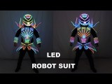 Full Color LED Robot Suit Party Performance Wears Armor Colorful Light Mirror Clothe Club Show Outfits Helmets