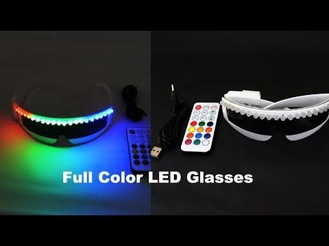 Fashion Cool LED Glasses Luminous Neon Light up Glasses Glowing Rave Costume Glasses Christmas Halloween Supplies DJ Club Props