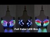 LED Glowing Ladies Bra Nightclub Stage Girl Dancing Fluorescent Underwear Sexy Catwalk Props