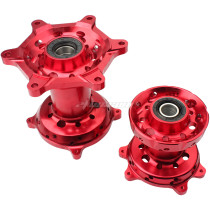 2PCS CNC Front & Rear Wheel Hubs For Honda CR125R CR250R CRF250X CRF450X CRF250R
