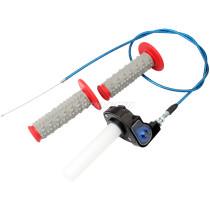 22mm 7/8 inch Throttle Housing Handlebar Grip Twist Cable For ATV Pit Dirt Bike Quad Blue