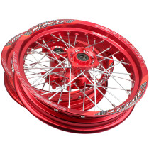 15mm hole hub 2.50 x 14inch & 3.00 x 14 inch front and rear CNC hub Aluminum Alloy Wheel Rims for dirt pit bike RED