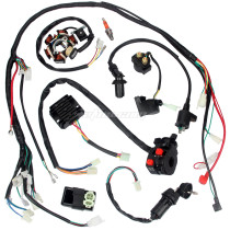 Full Electrics Wiring Harness Loom CDI Coil For GY6 125CC 150CC ATV Quad Go Kart