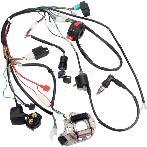 70cc 90cc 110cc CDI Wire Harness Assembly Wiring Kit ATV Electric Start QUAD
