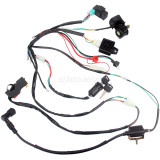 CDI Wiring Harness Loom Solenoid Rectifier for 50CC-110cc Pit Quad Dirt Bike ATV