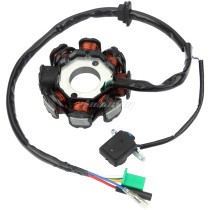 Magneto Stator AC Ignition Coil 8 Pole 5-wire for GY6 125cc 150cc ATV Scooter Moped Go Kart Buggy Quad