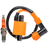 Ignition Coil 3-Electrode Spark Plug CG125 150 200 250CC For ATV Dirt Pit Bike