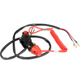 2 Wires On Off Kill Stop Switch with Safety Tether Line For 50cc-250cc ATV Quad Dirt Pit Bike Go Kart