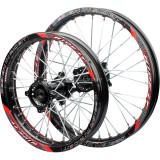 15mm hole 1.85 x 14inch & 1.60 x 17 inch front and rear wheel CNC hub For 90cc 110cc 125cc 140cc CRF70 XR50 Pit dirt bik Bike MotorcycleBlack