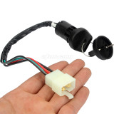 Universal Ignition Barrel Switch 4 Wires 2 Key For 50-250cc Motorcycle Pit Dirt Bike Quad ATV Parts