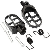Black Wide Foot Pegs Footrests For Yamaha PW50 PW80 TW200 Honda XR/CRF Pit Dirt Bike