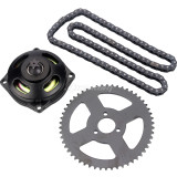 6 Tooth Clutch Drum Gear Box + 54T Rear Chain Sprocket + t8f Sprocket Chain 108 Links For 47cc 49cc 2 Stroke Mini Moto Pocket Bike ATV Quad 4 Wheeler Go Kart Scooter