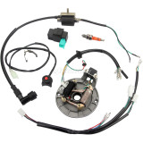 Wiring Harness Loom Solenoid Coil Regulator CDI For 50-110cc ATV Quad Dirt Pit Bike Motorcycle Parts