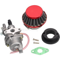 Red Air Filter + Carburetor Carb + Stack For 2 Stroke 47cc 49cc Engine Parts Mini Moto Kids ATV Quad 4 Wheeler Go Kart