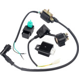 CDI Box Ignition Coil Solenoid Relay Voltage Regulator for 50cc 70cc 90cc 110cc 125cc ATV Dirt Bike Go Kart