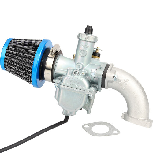 26mm VM22 Carburetor Carb + 38mm Blue Air Filter Cleaner + Manifold Intake Pipe + Gasket Fit For Chinese 125/140cc Pit Dirt Bike