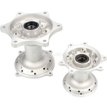 2PCS Silver Front & Rear Wheel Hubs For Honda CR125R CR250R CRF250X CRF450X CRF250R Pit Dirt Bike