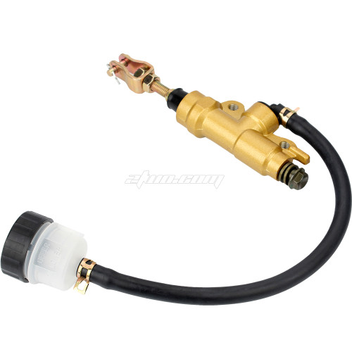 Foot Rear Brake Master Cylinder Pump Reservoir for Yamaha TZR125 FZR 250 XJR400 Aluminium Gold