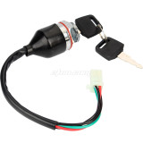 Waterproof Ignition Barrel Key Switch 2 Keys 4 Pin Block Connector For ATV Mini Moto Dirt Bike Buggy Motorcycle Parts
