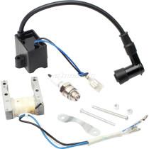 CDI Ignition Magneto Coil Spark Plug fits 49cc 50cc 60cc 66cc 70cc 80cc 2-stroke Engine Motorized Bicycle Bike