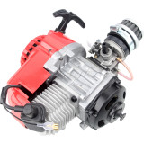 49cc 2 Stroke Pull Start Engine For Motorbike Mini Dirt Pocket Bike ATV Quad 7T 25H Chain - Red