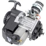 49cc 2 Stroke Pull Start Engine For Motor Motorbike Mini Dirt Pocket Bike ATV Quad 25H Chain - Black