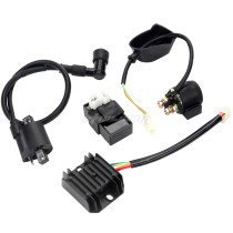 Ignition Coil 6 Pin CDI Voltage Regulator Rectifier Solenoid Relay Kit For 150cc 200cc 250cc Engine Chinese ATV Quad Dirt Bike