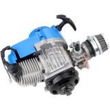 49cc 2 Stroke Pull Start Engine For Motorbike Mini Dirt Pocket Bike ATV Quad 7T 25H Chain - Blue