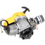 49cc 2 Stroke Pull Start Engine For Motor Motorbike Mini Dirt Pocket Bike ATV Quad 25H Chain - Yellow