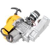 49cc Engine 2-Stroke Pull Start with Transmission For Mini Moto ATV Quad Dirt Bike Yellow