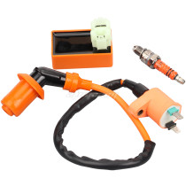 Ignition Coil+Racing CDI Box Spark Plug For GY6 50 125 150cc Moped Scooter ATV Go Carts